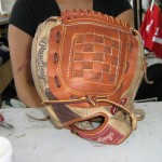 After: New pocket installed in ball glove