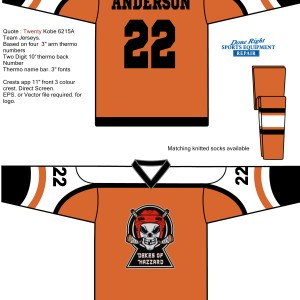 Hockey Jersey Custom Orders